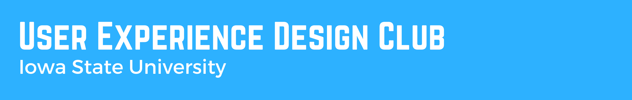 User Experience Design Club Header