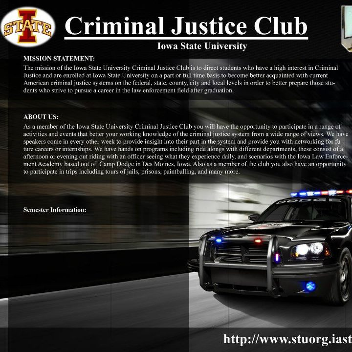 Criminal Justice Club Header